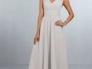 1d033eead4ec9 Mori Lee bridesmaid dress style number 21553. Classic, Full Chiffon A-Line  Gown