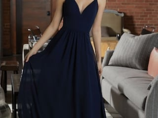 ae40c18d26dd0 Mori Lee bridesmaid dress style number 21597. Chiffon Bridesmaid Dress  Featuring a Deep V-